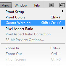 Photoshop Gamut Warning