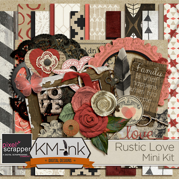 PS BLOG TRAIN: RUSTIC LOVE {FREEBIE}