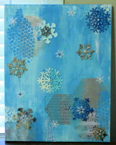 Winter Wonderland 3D Mixed Media Canvas