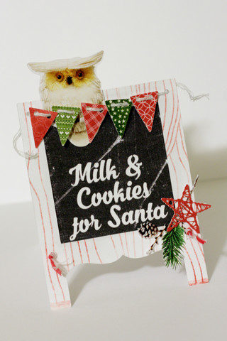 Milk and Cookies for Santa Sign