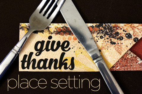 Quick & Easy Thanksgiving Place Settings