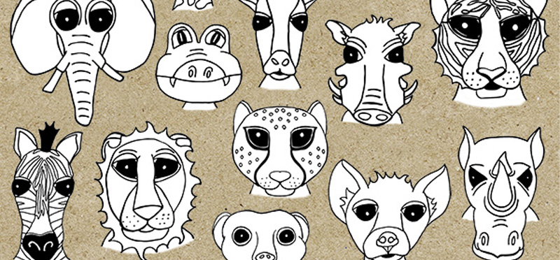 African Safari: Animal Stamps *New Release*