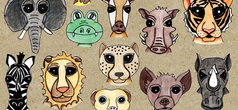 African Safari: Animal Clip Art *New Release*